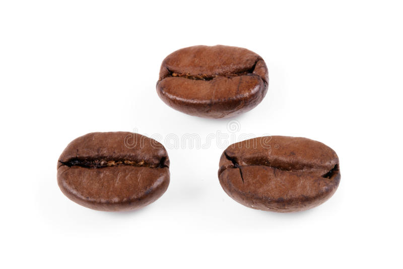 Tres granos de café imagen de archivo libre de regalías