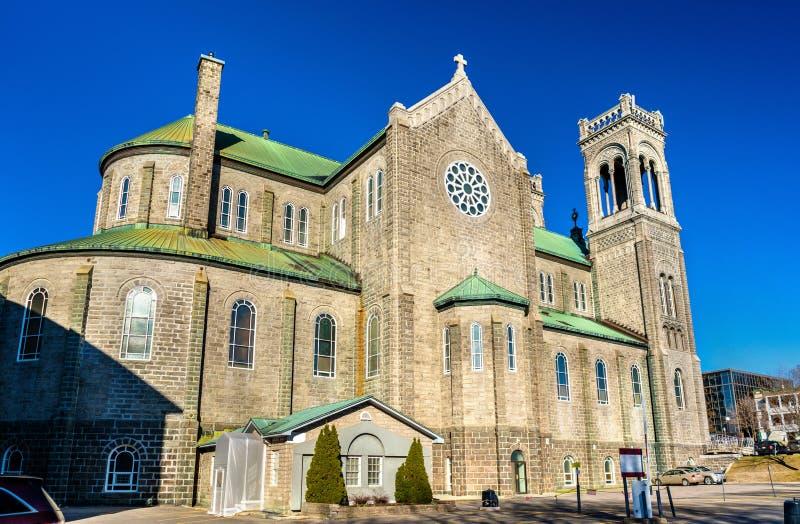 Tres-helgon-Sacrement kyrka i Quebec City, Kanada arkivfoto