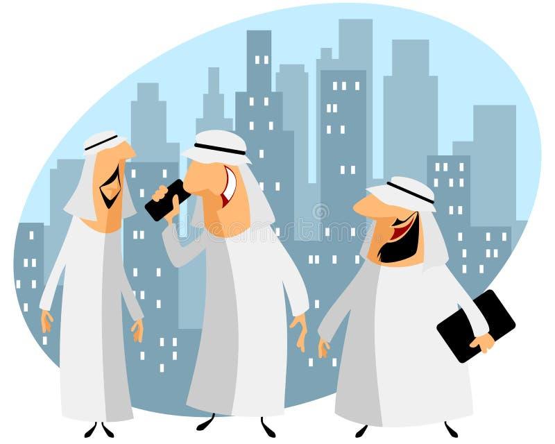 Tres hombres de negocios árabes stock de ilustración