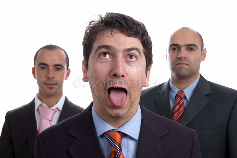 Tres hombres de negocios imágenes de archivo libres de regalías