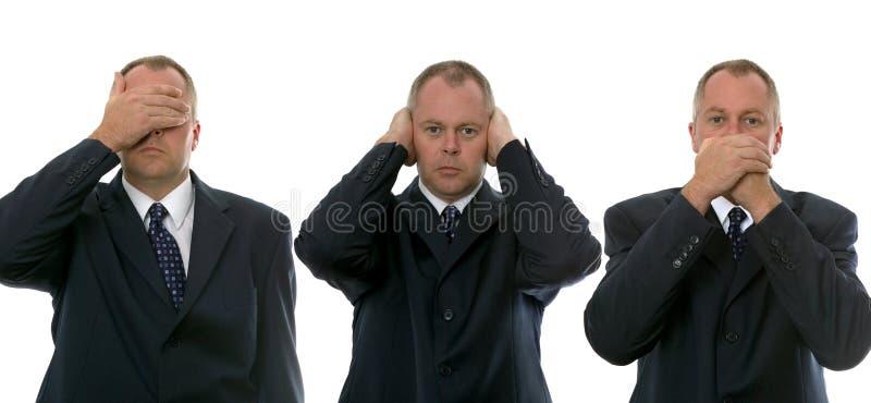 Tres hombres de negocios sabios imagen de archivo libre de regalías