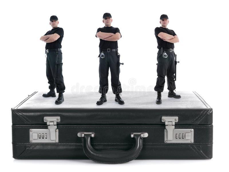 Seguridad triple fotografía de archivo libre de regalías