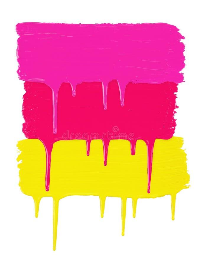 Tres líneas pintadas imagen de archivo libre de regalías