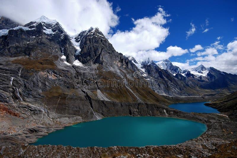 Tres lagos de Las fotos de stock royalty free