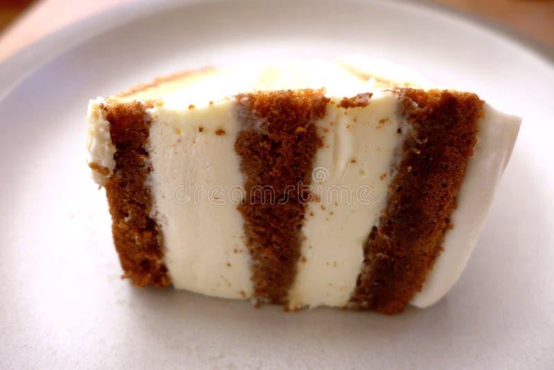 Tres Leches蛋糕切片 免版税库存照片