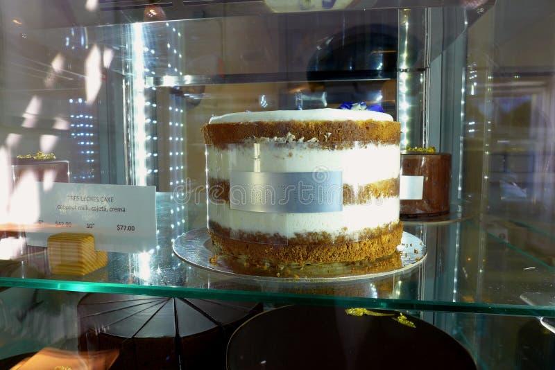 Tres Leches蛋糕Tartine 免版税库存图片