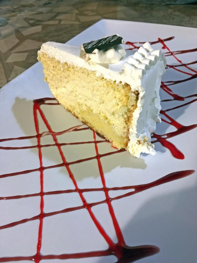 Tres leches cake stock photography