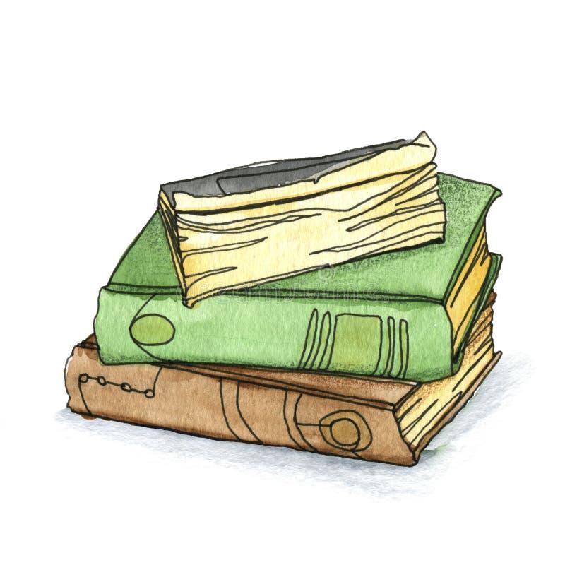 Tres libros son una pila foto de archivo libre de regalías
