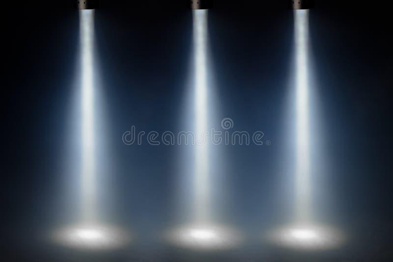 Tres luces azules del punto imagen de archivo