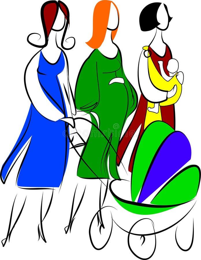 Tres madres libre illustration