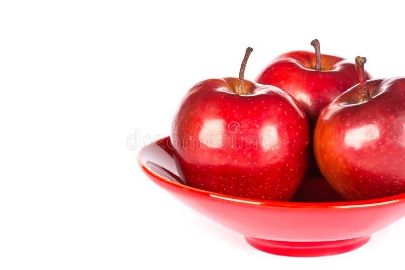 Download Tres manzanas rojas imagen de archivo. Imagen de alimento - 64204763