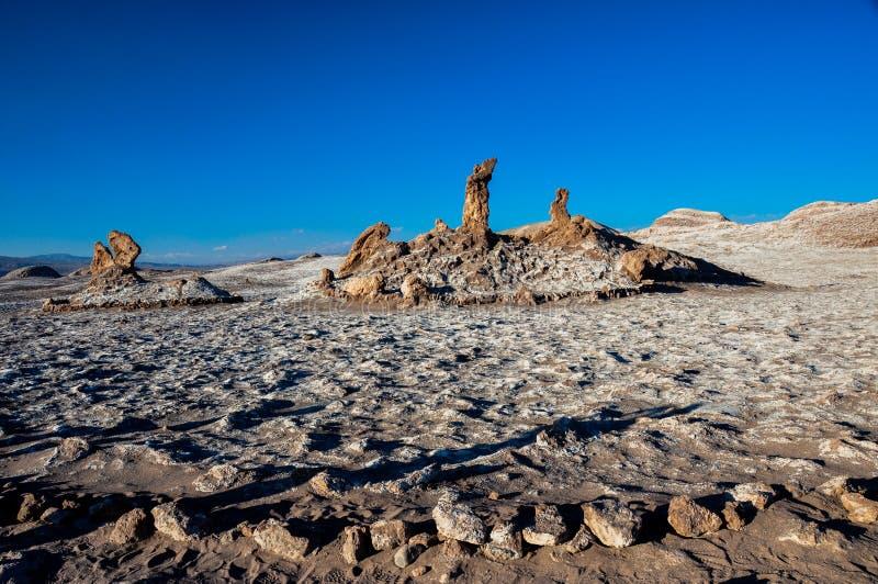 Tres Marias oscilla in La Luna di Valle de vicino a San Pedro de Atacama, fotografie stock libere da diritti