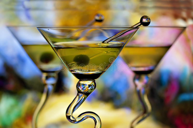 Tres martinis fotos de archivo libres de regalías
