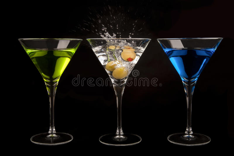 Tres martinis imagen de archivo