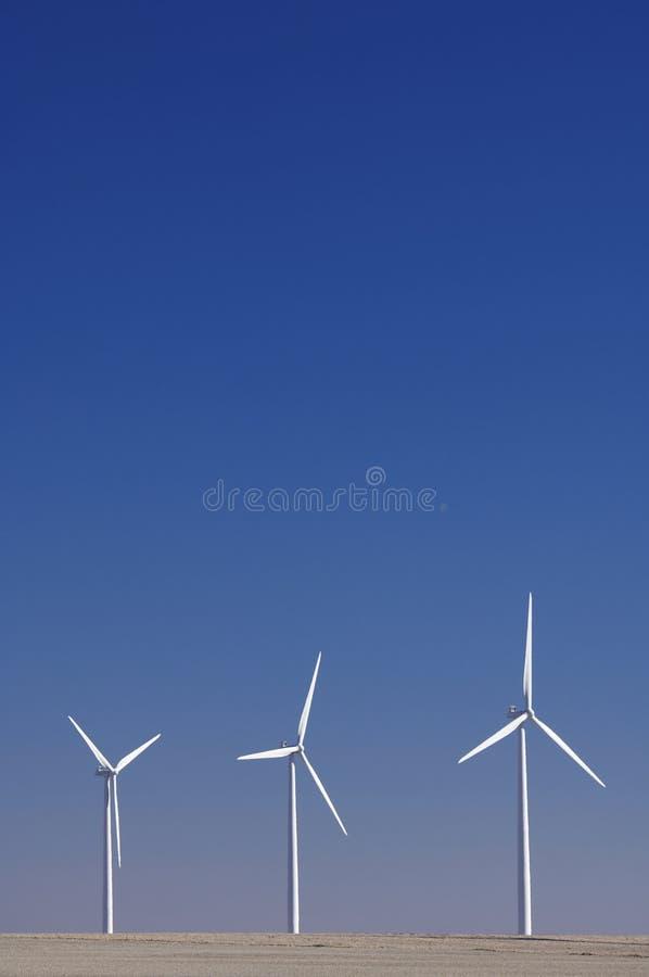 Tres molinoes de viento imagen de archivo libre de regalías