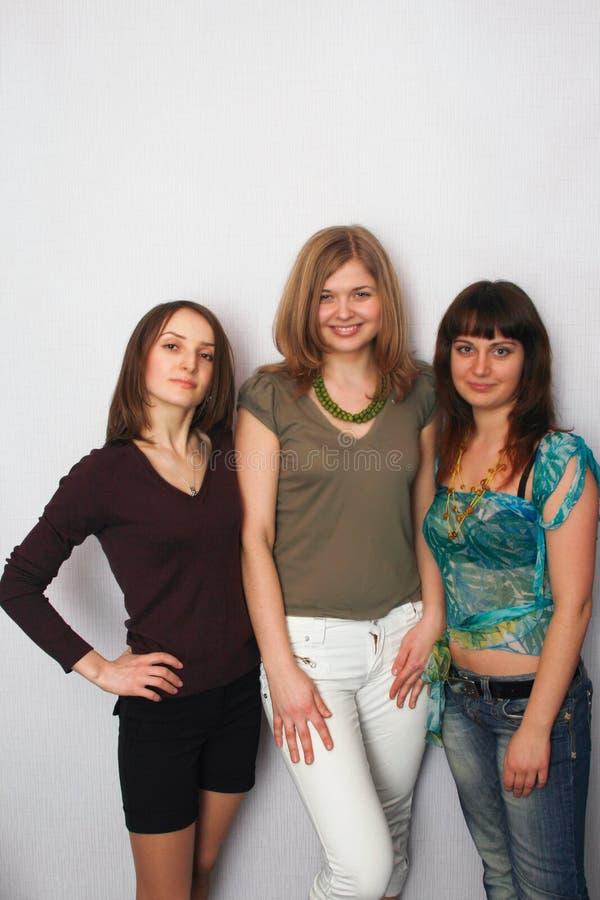 Tres muchachas imágenes de archivo libres de regalías