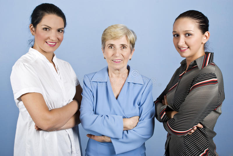 Tres mujeres de negocios imagen de archivo libre de regalías