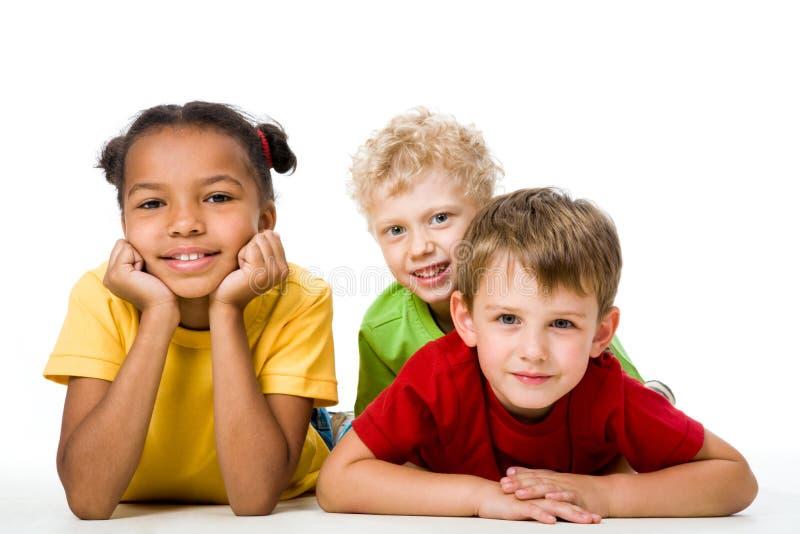 Tres niños fotografía de archivo libre de regalías