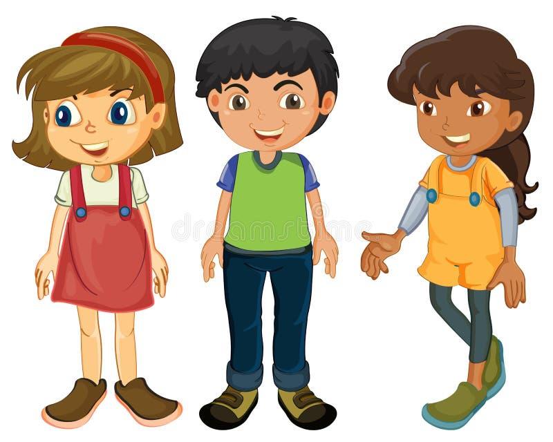 Tres niños libre illustration