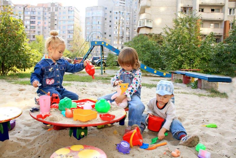 Tres niños preciosos imagen de archivo libre de regalías