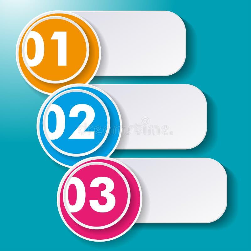 Tres opciones Paperlabels libre illustration