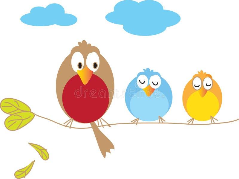 Tres pájaros libre illustration