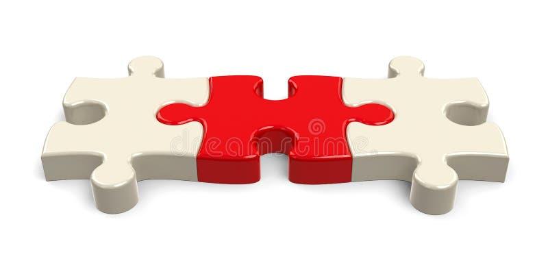 Tres pedazos del rompecabezas ilustración del vector