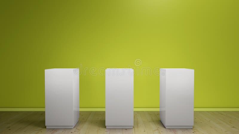 Tres pedestales ilustración del vector