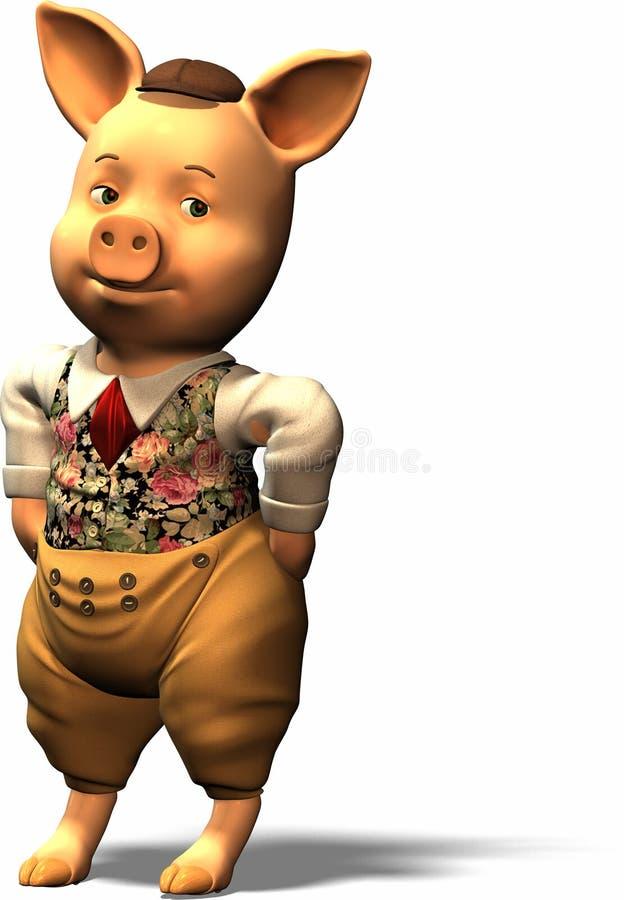 Tres pequeños cerdos - parte 1 ilustración del vector