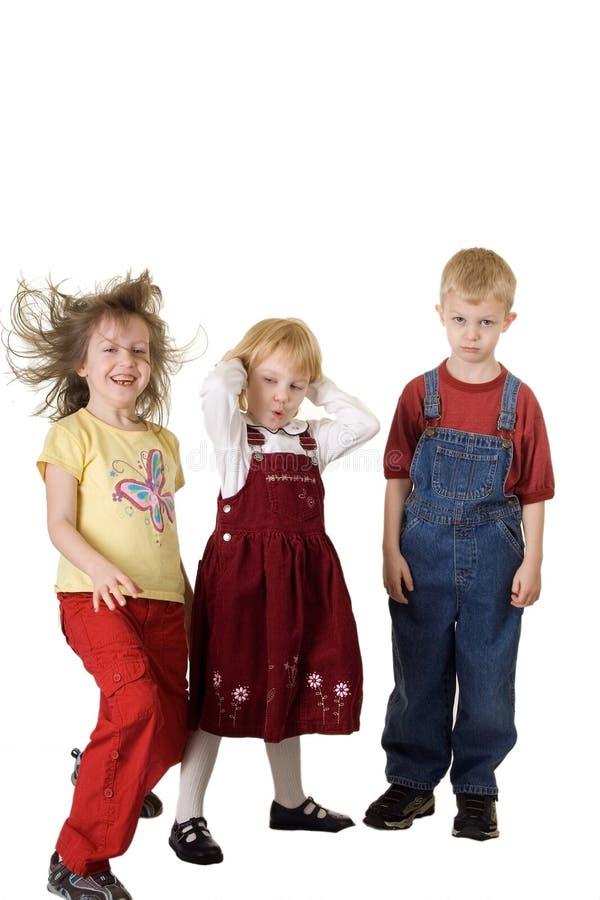 Tres personalidades de los niños imagen de archivo