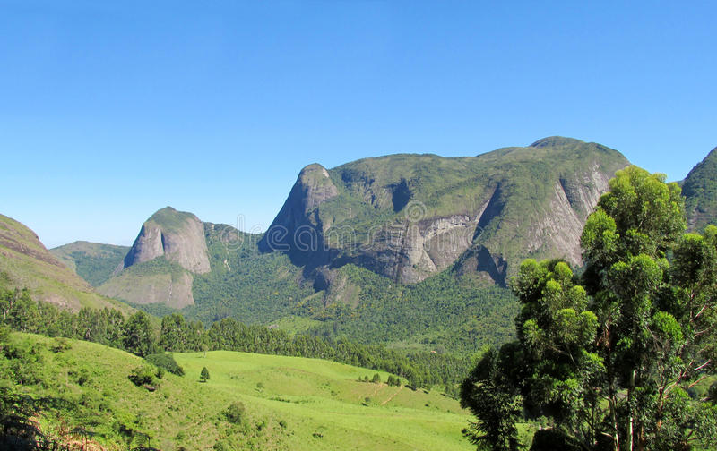 Tres Picos National Park. Tres Picos, three peaks isolate mountain ofSerra dos Orgaos National Park located in Nova Friburgo town, Rio de Janeiro Brazil. The stock images
