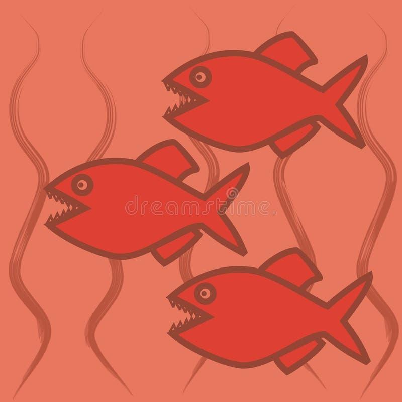 Tres pirañas libre illustration
