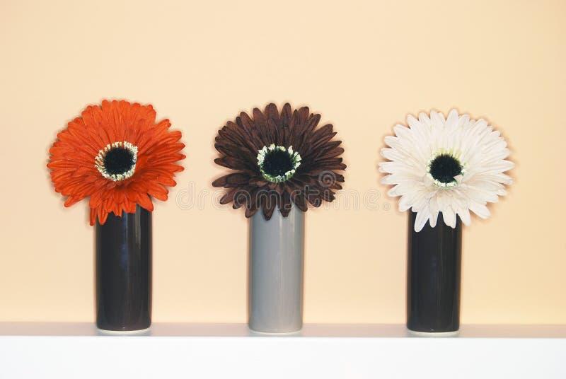 Tres pistas de flor fotografía de archivo