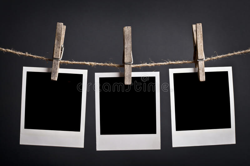 Tres polaroides fotografía de archivo