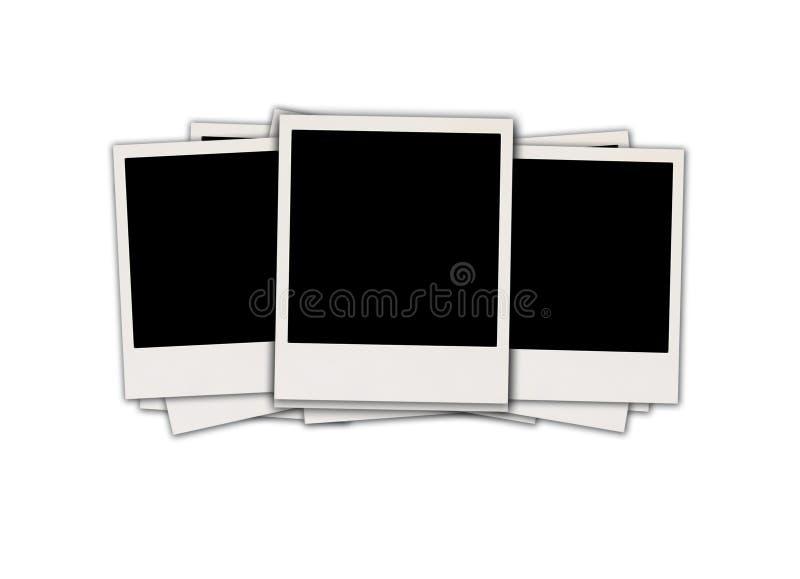 Tres polaroides en blanco fotografía de archivo