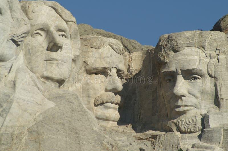 Tres presidentes en el nacional Memori de Rushmore del montaje foto de archivo