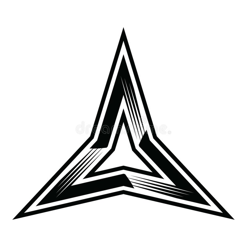 3 tres puntos de la estrella del clipart del vector del ejemplo libre illustration