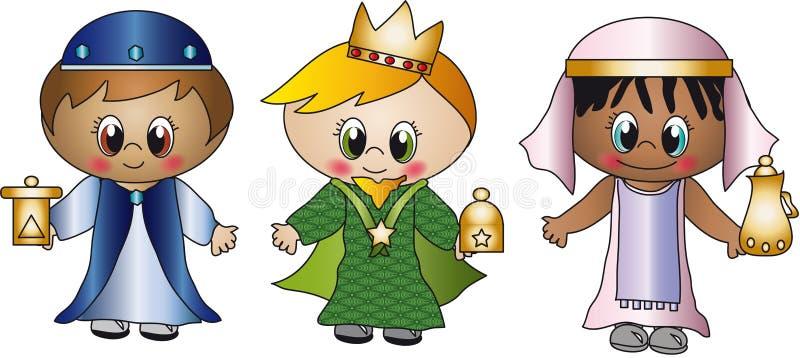 Tres reyes ilustración del vector