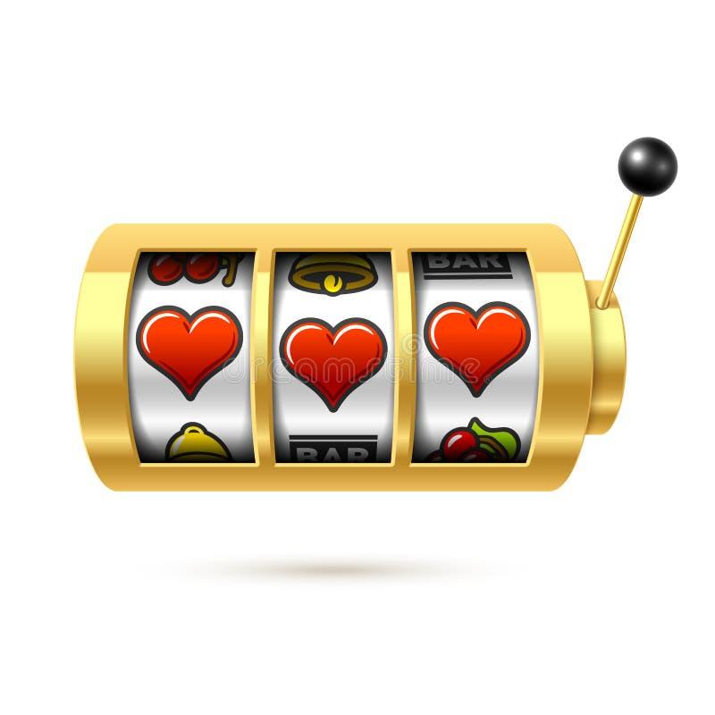 Tres símbolos afortunados del corazón en un bandido del brazo libre illustration