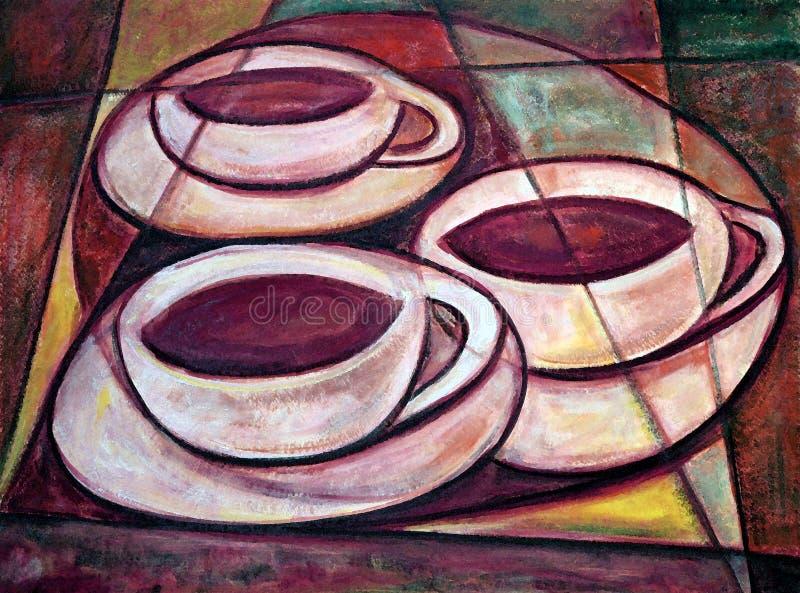 Tres tazas libre illustration