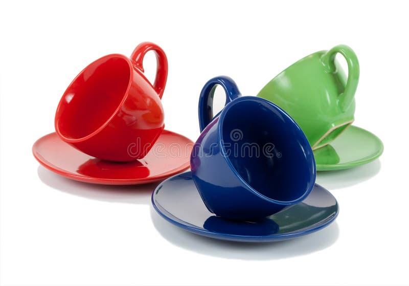 Tres tazas de té fotos de archivo libres de regalías