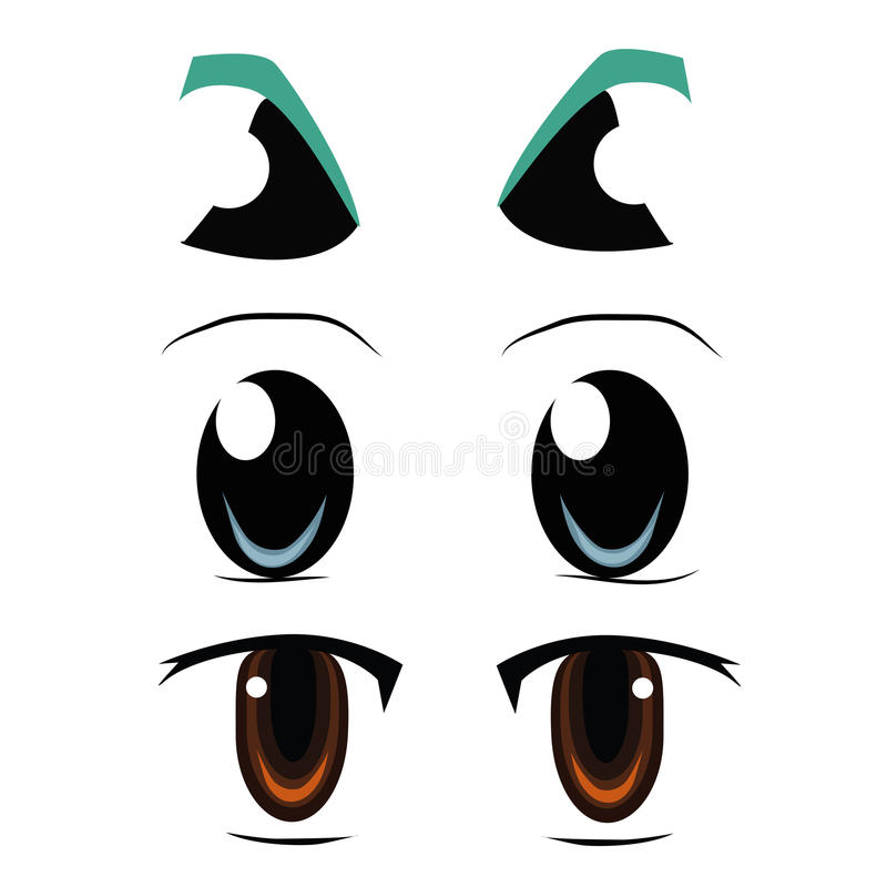 Tres tipos de ojos libre illustration