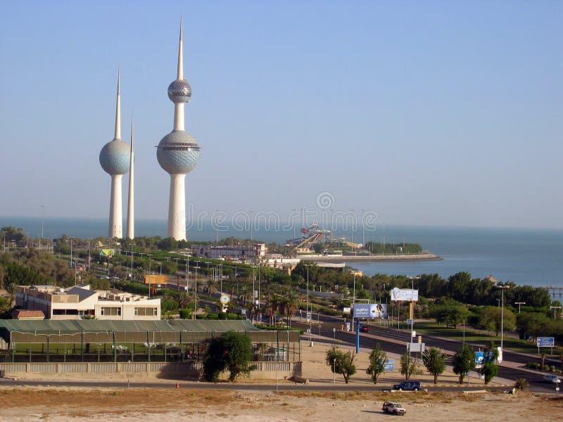 Tres torres en Kuwait imágenes de archivo libres de regalías