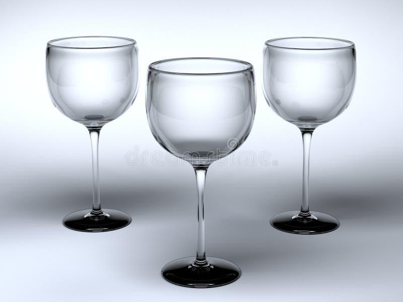 Tres vidrios foto de archivo libre de regalías