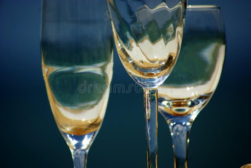 Tres vidrios de vino fotografía de archivo libre de regalías