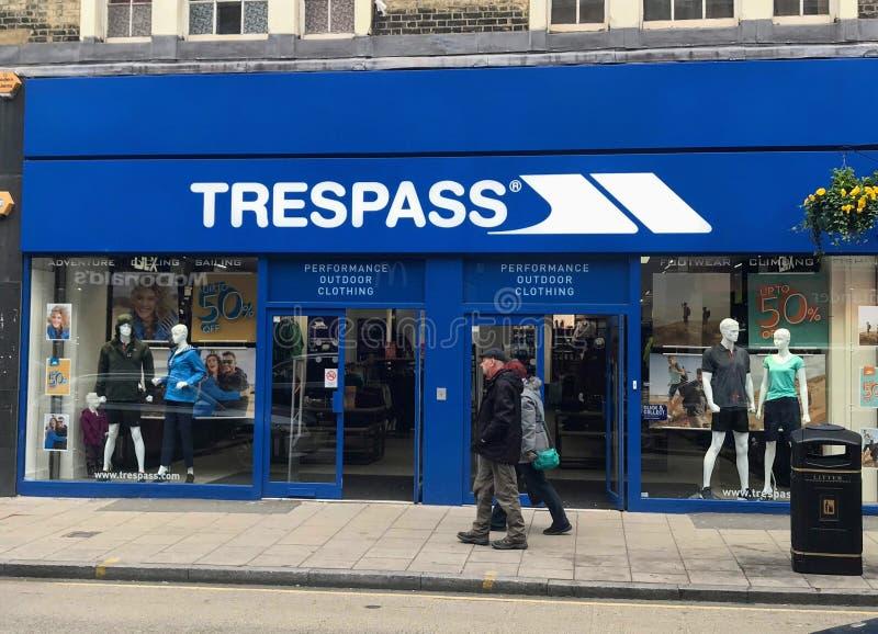 Trespass store royalty free stock image
