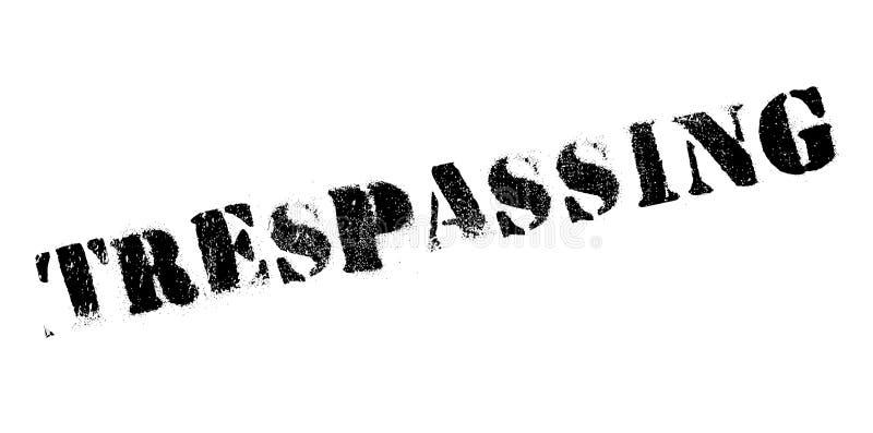 Trespassing pieczątka ilustracja wektor
