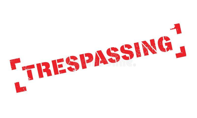Trespassing pieczątka ilustracji