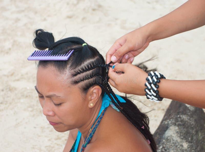 Tressage de cheveu photographie stock