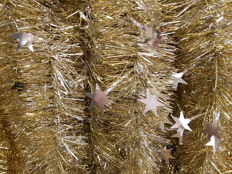Tresse d'or avec des étoiles photo libre de droits